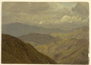 Drawing, Mountainous landscape, July 1865