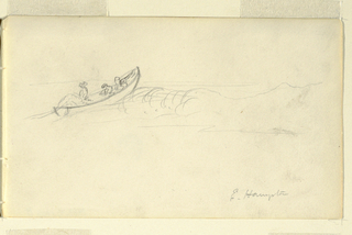 Drawing, Sketches of Fishermen with Nets, July–August 1858