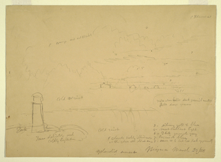 Drawing, Niagara Falls, Terrapin Point, March 20, 1856