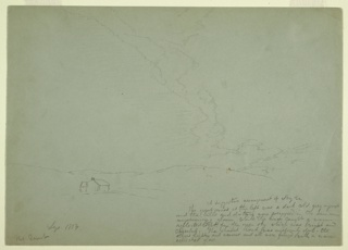 "Drawing, ""Aurora"" Mt. Desert, September 1854"
