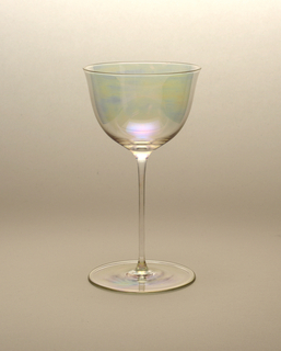 "Thinnest mouth-blown crystal (""Muslin glass"") wine glass."