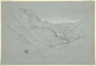 Drawing, Landscape from the Alps, August–September 1868