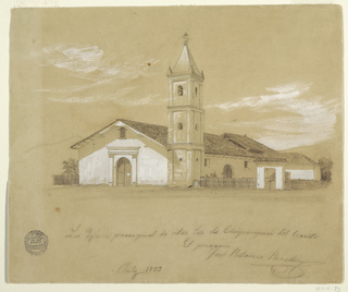 Drawing, Parish Church of Our Lady of Chiquinquira del Cerrito,Chiquinquira, Colombia