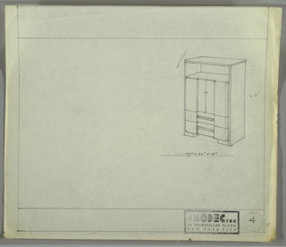Drawing, Amodec: Cabinet