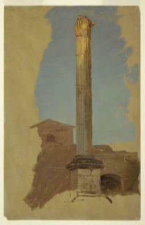 Drawing, Rome, classical column, 1868–69