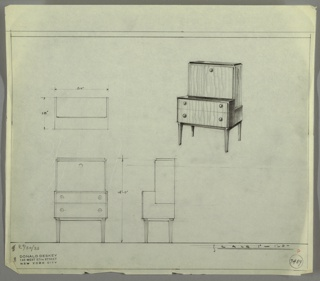 Drawing, Design for Cabinet
