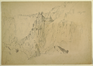 Drawing, Coast with Steep Rocks, August 1885