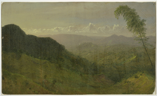 Drawing, Hilly Landscape, 1865