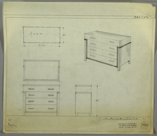 Drawing, Design for Chest of Drawers
