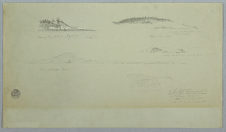 Drawing, Part of Fogo Island, Indian Look, July 2, 1859