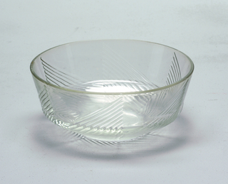 Triangular ridged pattern.  Bowl