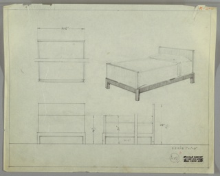 Drawing, Design for Bed
