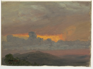 Drawing, Sunset, August 1865