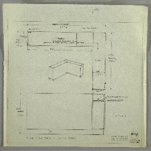 Drawing, Design for Storage Cabinet with Light, 1935–1943