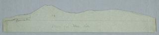Horizontal rectangular cut-out showing the range of Mount Katahdin.