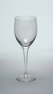 Clear glass.  White wine