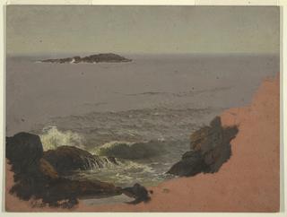 Drawing, Maine Coast, 1845–48