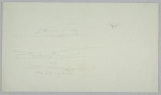 Drawing, Iceberg; ice flower, sky, June or July 1859