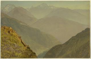 Drawing, The Watzmann and Goell, near Berchtesgeden, 1868