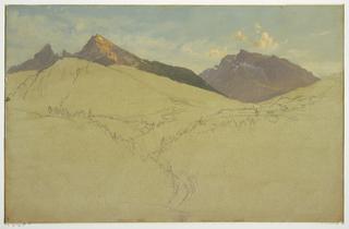 Drawing, The Watzmann, near Berchtesgaden, Bavaria, June 1868