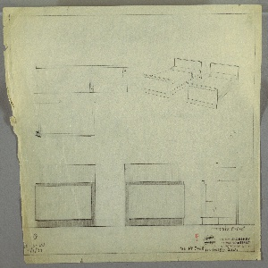 Drawing, Design for Twin Beds