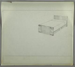 Drawing, Bed, early 20th century