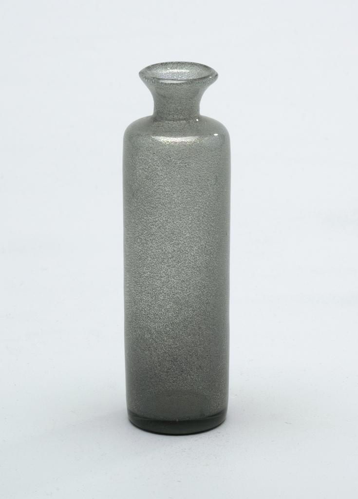 Silver/grey glass.  Bottle