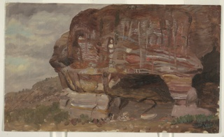 Drawing, Study of a Zoomorphic Rock, Petra