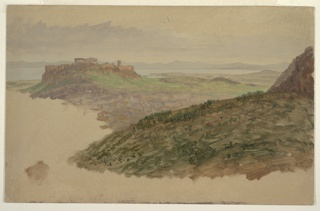 Drawing, View of the Acropolis from Mount Lycabettus, Athens