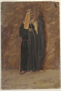 Drawing, Study of a standing bedouin, 1868