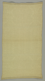 Natural linen runner with a patterned honeycomb surface. Woven on an eight-harness loom.