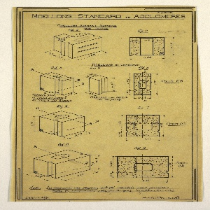 Design for a mass-operational house by Guimard, detailing construction.