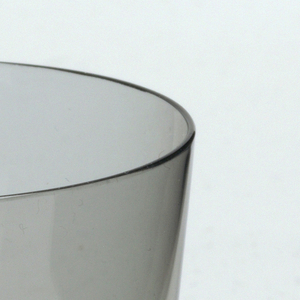 Thin mouth-blown crystal, pale green water tumbler.