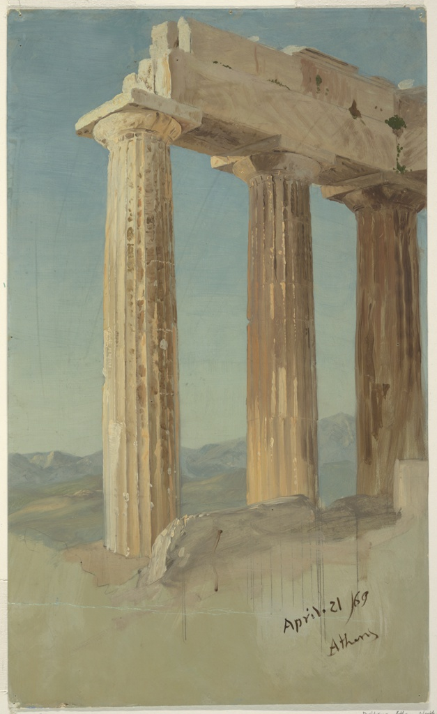 Drawing, Columns of the Parthenon, Athens