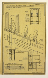 Design for a mass-operational house by Guimard, detailing the support structure of the walls.
