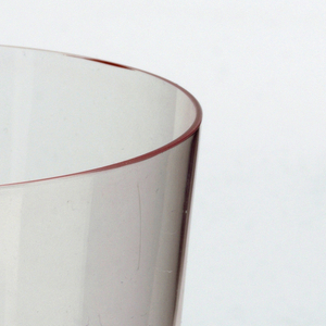 Thin mouth-blown crystal, rosaline water tumbler.