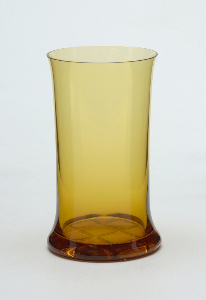Mouth-blown glass, stamped brand