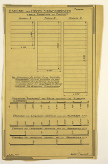 Drawing, Design for a Mass-Operational House Designed by Hector Guimard, Scale Table
