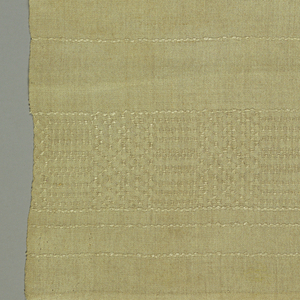 Finely woven runner in a Bronson weave with the reverse used as the right side.