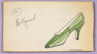 Drawing, Design for a Shoe, for Delman Shoe Company, New York City