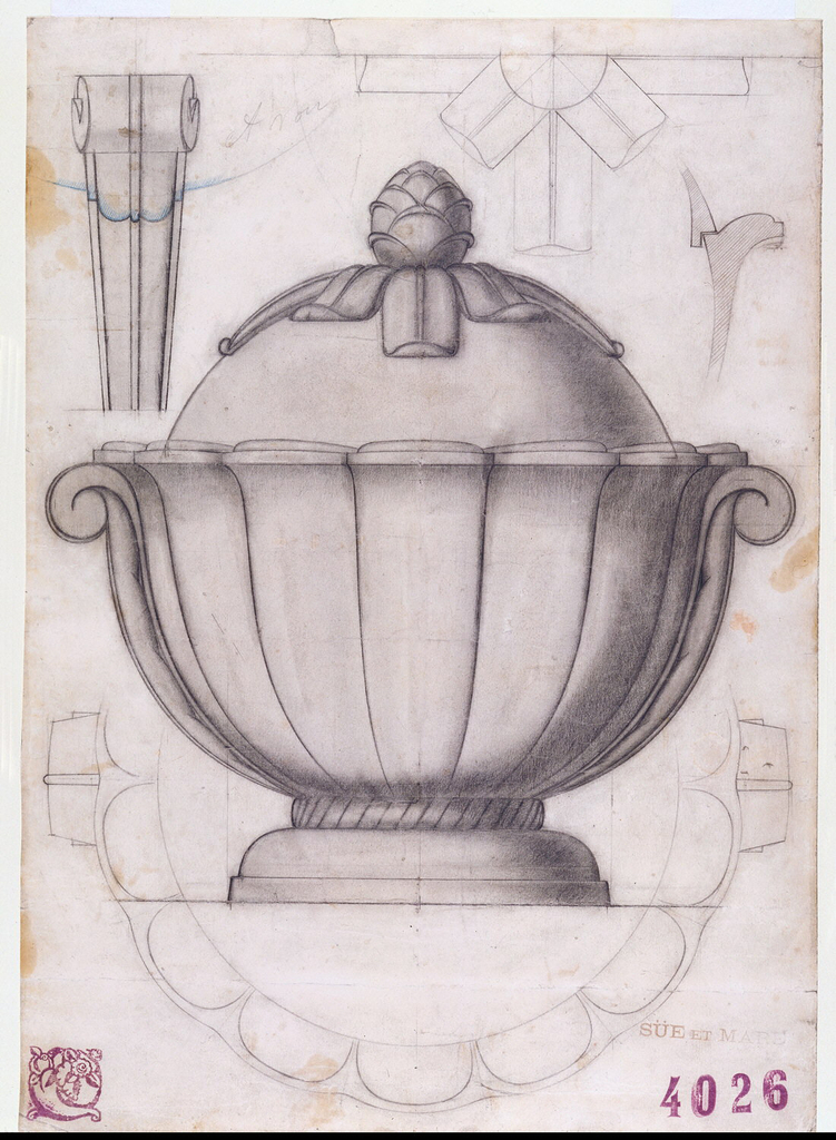 Drawing, Design for a Covered Soup Tureen