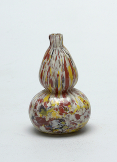 Multi colored ( white, yellow and terracotta) gourd shaped