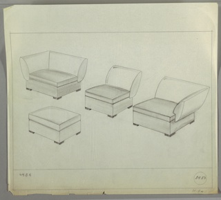 Drawing, Sectional Seating