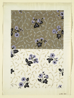 Drawing, Floral design for printed textiles, 1800–1818