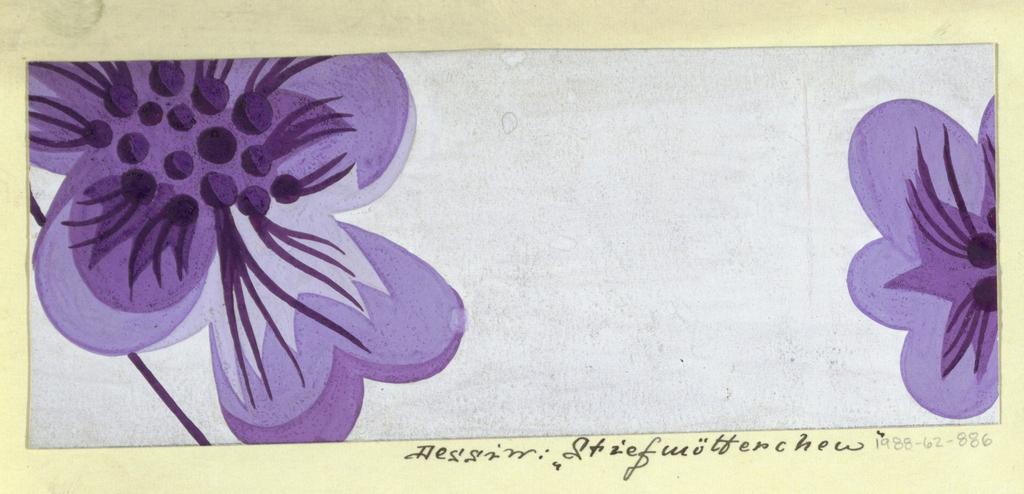 Drawing, Textile Design: Stiefmütterchen (Pansy)