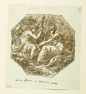 Drawing, Bacchus and Ceres, 1800–1825