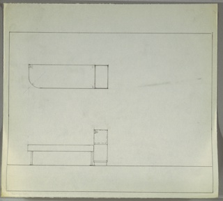 Drawing, Bench with Telephone Stand, ca. 1934–1937