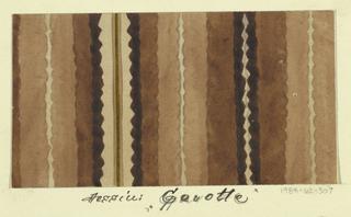 Drawing, Textile Design: Gavotte