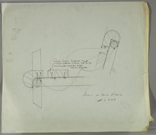Drawing, Bench & Chair/ Detail