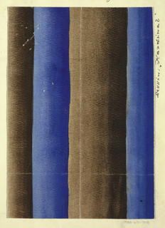 Gradiated stripes in blue and brown.